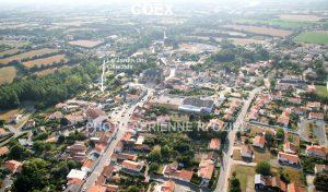 Photo aérienne de coex et des olfacties
