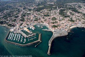 Port Joinville vue aérienne