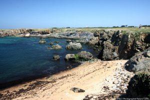 Les plages de l'Ile d'Yeu coté cote rocheuse