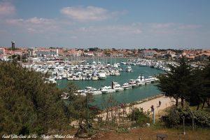 Port de plaisance saint gilles croix de vie vu du belvédère