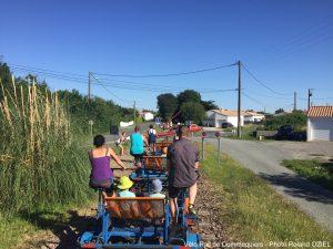 Passage à niveau chemin de fer vélo rail