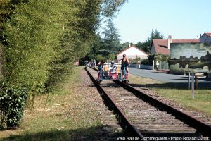 velo rail commequiers arrivee en gare