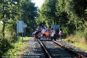 Camping pour faire du véloo rail à commequiers